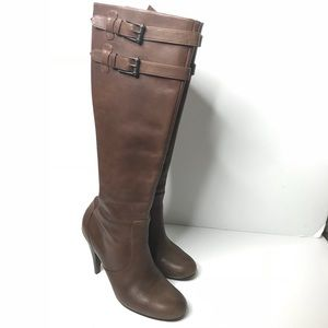 Cole Haan Sz 7.5 Brown Leather Heeled Boot